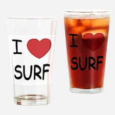 I heart surf Drinking Glass