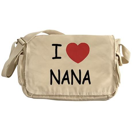 I heart nana Messenger Bag