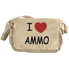 I heart ammo Messenger Bag