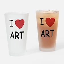 I heart art Drinking Glass