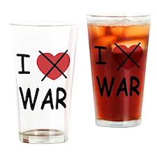 I hate war Drinking Glass