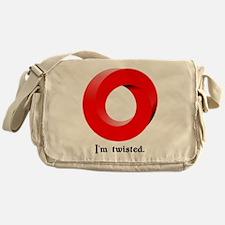I'm twisted. Messenger Bag
