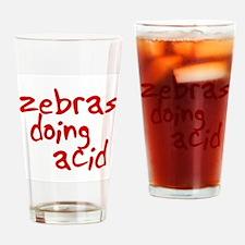 zebras doing acid Drinking Glass