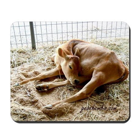 Sleeping calf Mousepad