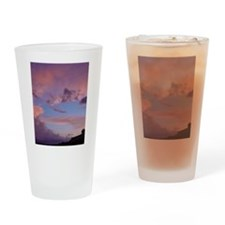 Pink Clouds Drinking Glass