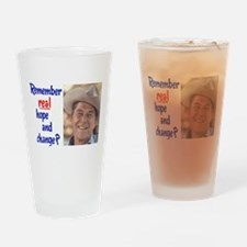 real hope and change Drinking Glass