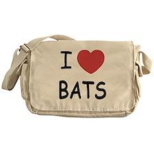 I heart bats Messenger Bag