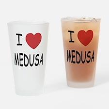 I heart Medusa Drinking Glass