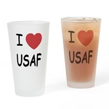 I heart USAF Drinking Glass