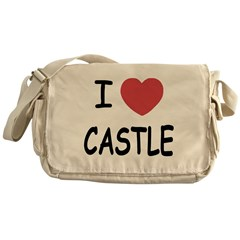 I heart Castle Messenger Bag