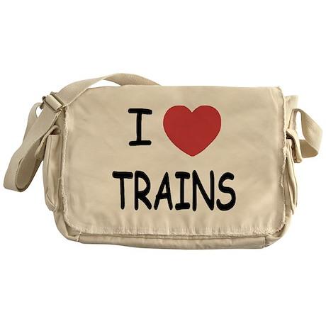 I heart trains Messenger Bag