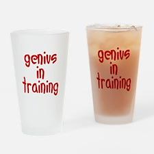 genius in training Drinking Glass