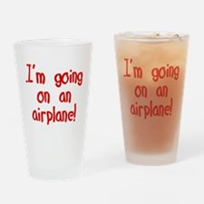 going on an airplane Drinking Glass