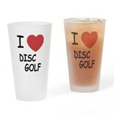 I heart disc golf Drinking Glass