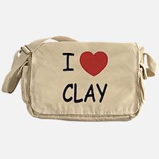I heart clay Messenger Bag