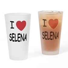 I heart selena Drinking Glass