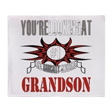 Radically Awesome Grandson Throw Blanket