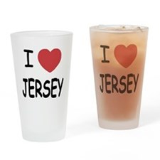 I heart Jersey Drinking Glass