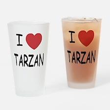 I heart Tarzan Drinking Glass