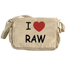 I love raw Messenger Bag