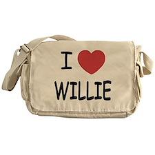 I heart Willie Messenger Bag