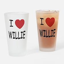 I heart Willie Drinking Glass