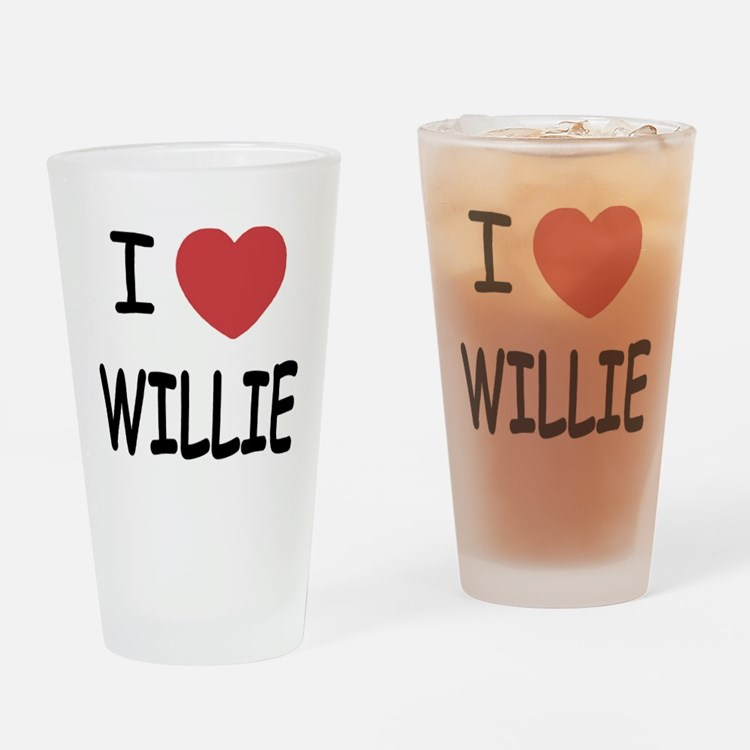 I heart Willie Drinking Glass