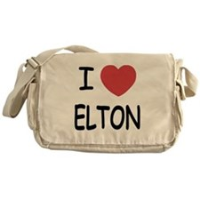 I heart Elton Messenger Bag