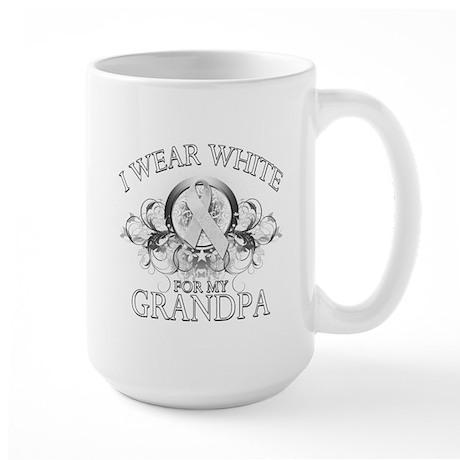 I Wear White for my Grandpa ( Large Mug