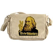 V is For Voluntary Messenger Bag