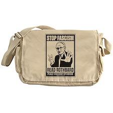 Stop Fascism! Read Rothbard! Messenger Bag