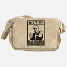 Stop Fascism! Read Rothbard! Messenger Bag
