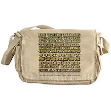 Federal Spending Messenger Bag