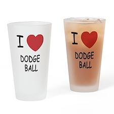 I heart dodgeball Drinking Glass