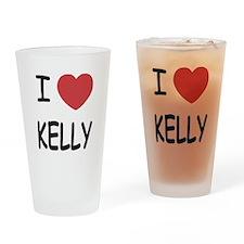 I heart kelly Drinking Glass