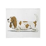 Basset hound Fleece Blankets