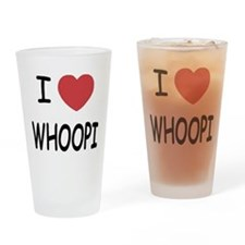I heart whoopi Drinking Glass