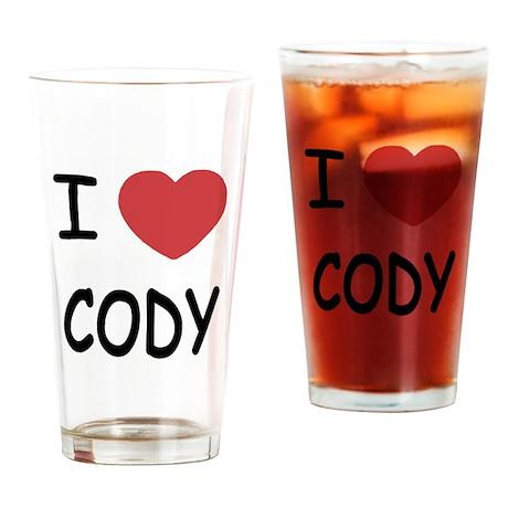 I heart cody Drinking Glass