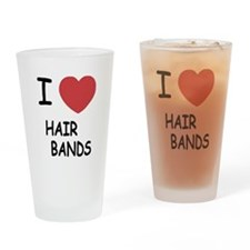 I heart hair bands Drinking Glass
