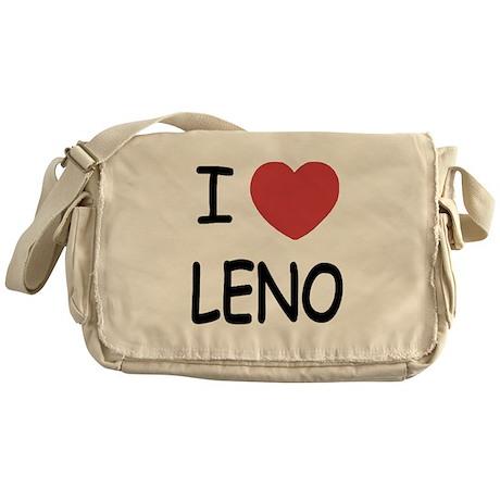 I heart leno Messenger Bag