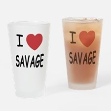 I heart savage Drinking Glass