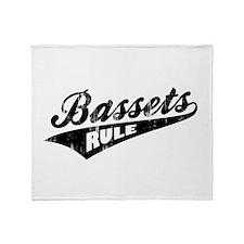 Bassets Rule Throw Blanket