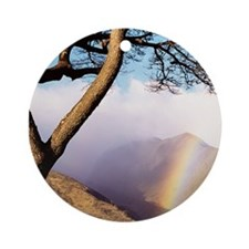 Mountain Rainbow Ornament (Round)