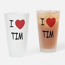 i heart tim Drinking Glass
