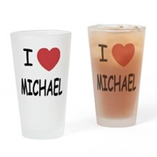 i heart michael Drinking Glass