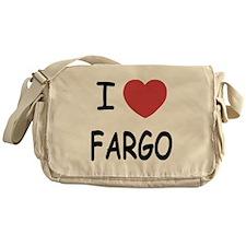 I heart fargo Messenger Bag