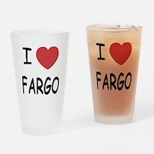 I heart fargo Drinking Glass