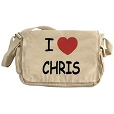 I heart chris Messenger Bag