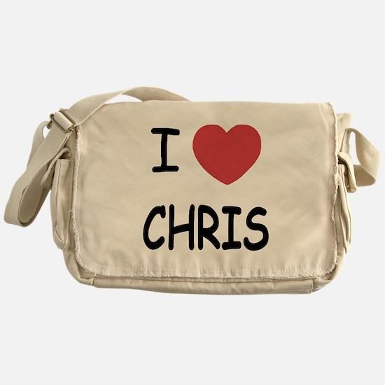 I heart chris Messenger Bag