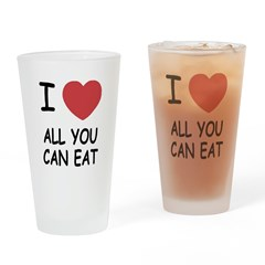 I heart all you can eat Drinking Glass